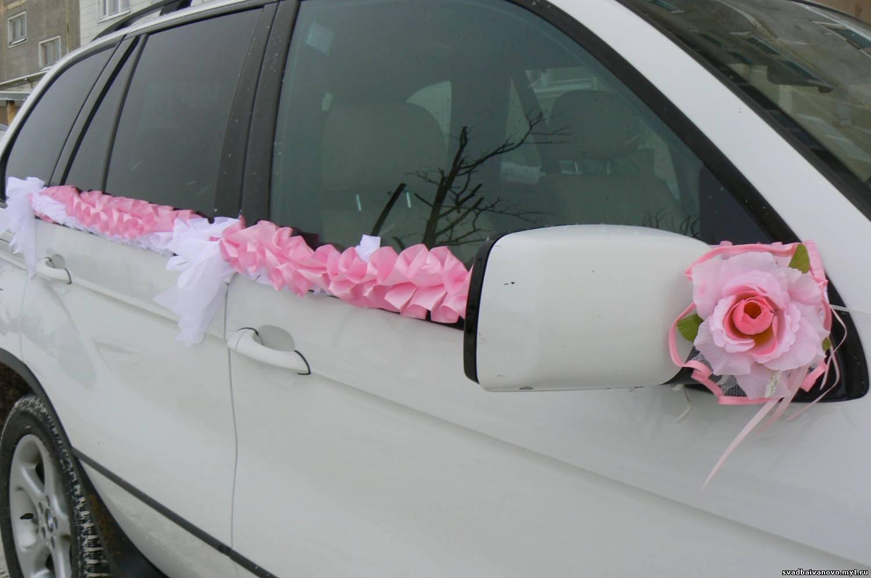 Лента на машину с бантиками своими руками 856